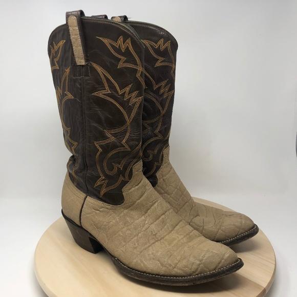 bb0b10006d2 Brahma Men's Size 10D Elephant Print Boots B118